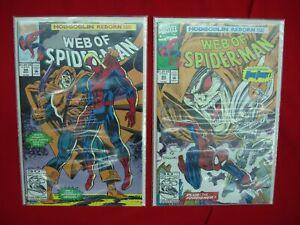 WEB OF SPIDER-MAN - HOBGOBLIN REBORN PART 1 & 2 #93 & #94 MARVEL COMICS 1992
