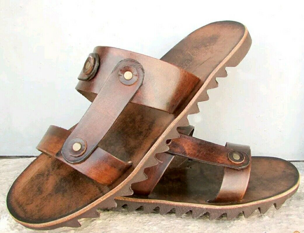 Handcraft Premium Leather Sandals Ancient Greek style with VIBRAM Sole at Sparta