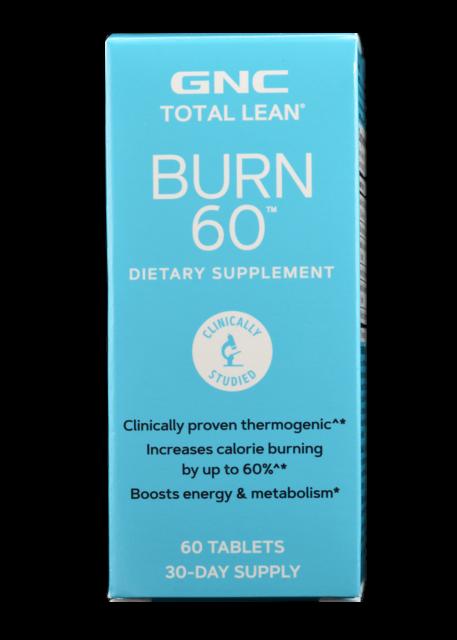 Gnc Total Burn Nutritional Supplement Cinnamon Flavored 60 Count