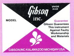 1970 S Gibson étiquette Intérieure - 330 - 335 - 345 - 355 Etc.-afficher Le Titre D'origine Facile à RéParer