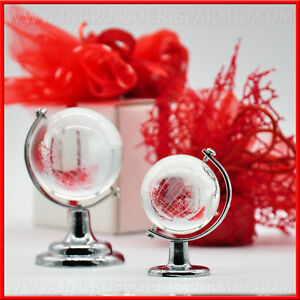 Amato Bomboniere confettate laurea mappamondo vetro gadget ingrosso IJ85