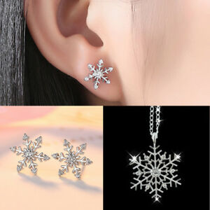 Fashion-Frozen-Snowflake-Crystal-Pendant-Necklace-Earrings-Jewelry-Set-Xmas-Gift