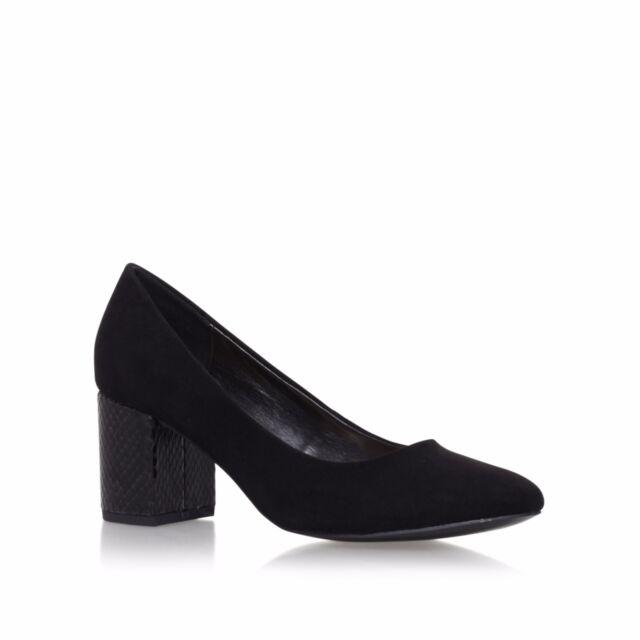 d1e726f4710 Miss KG Kurt Geiger Connie Black Mid Heel Court Shoes UK 4 EU 37 JS39 54