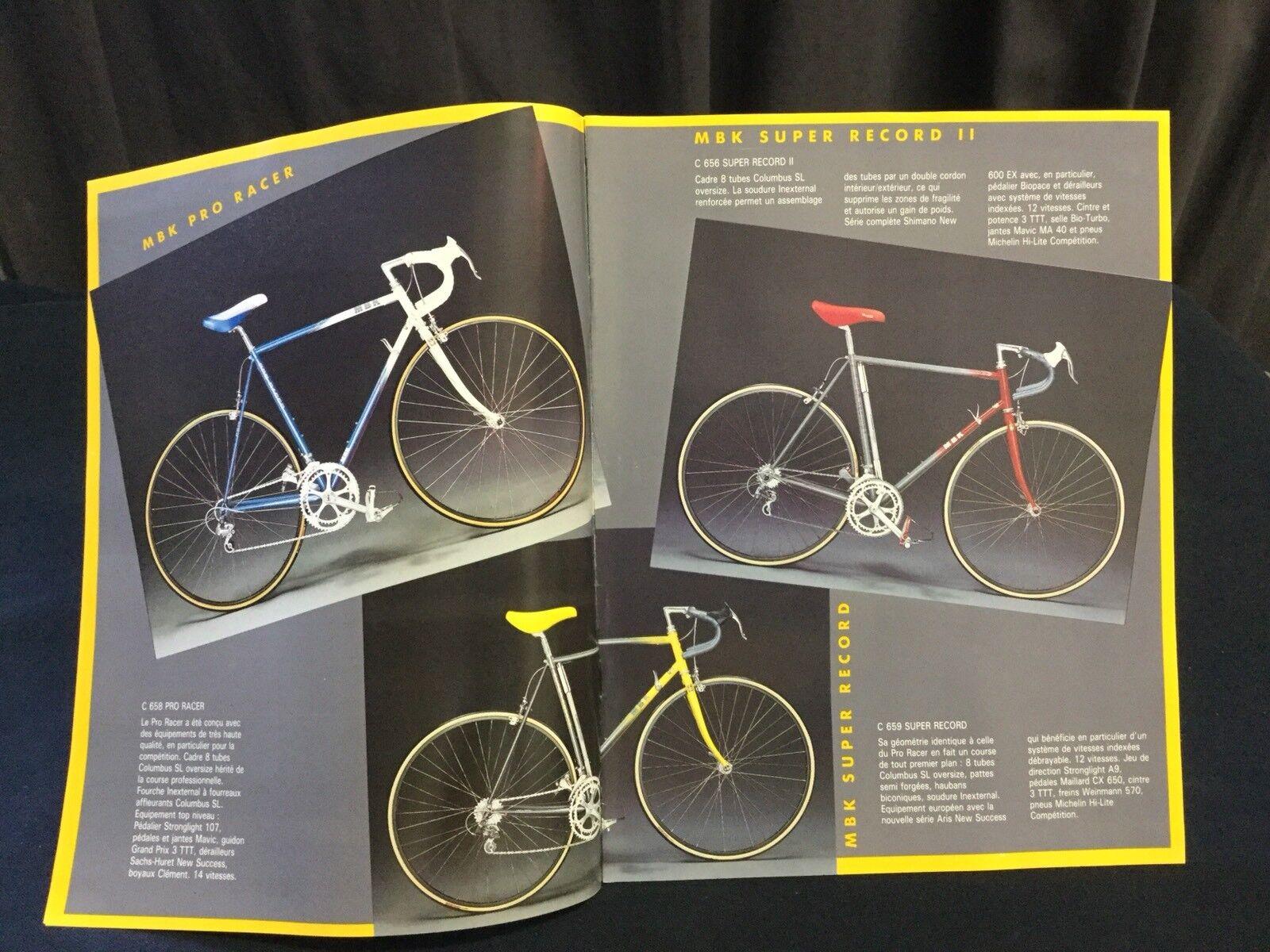 Randonneuse Cycle Velo 1988 Rare Cyclisme Catalogue MBK