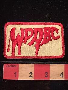 Vtg WPABC Patch ~ Very Cool Running Paint Design 65E7