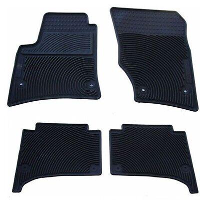All Weather Rubber Floor Mats {fits 2002-2010 Volkswagen Touareg} - 4 Piece Set