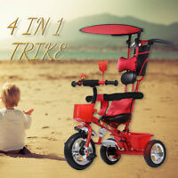 Toddler Smart Design 4-in-1 Childrens Tricycle Kids Trike 3 Wheel Bike