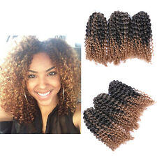 "8"" Ombre Afro Kinky Curly Crochet Braids Marlybob Braid Hair Extensions 3pcs/set"