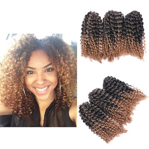 Image Is Loading 8 034 Ombre Afro Kinky Curly Crochet Braids
