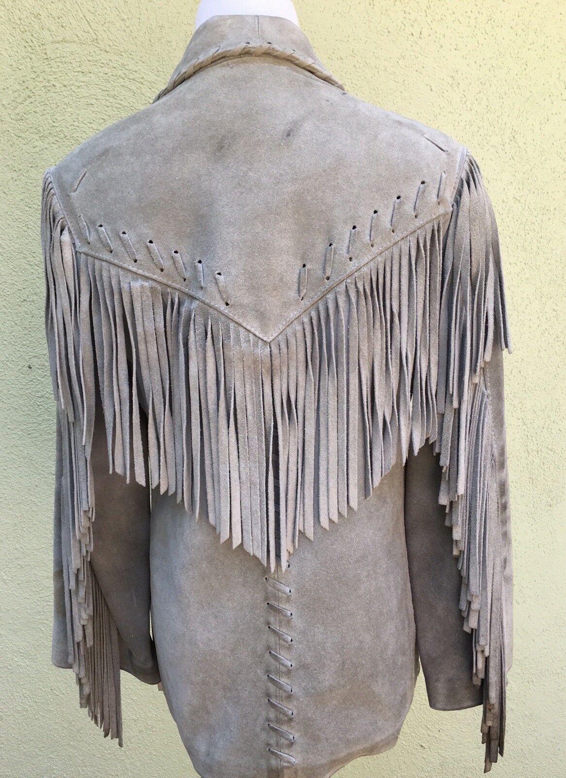 Vintage Western Fringed Leather Jacket - image 4