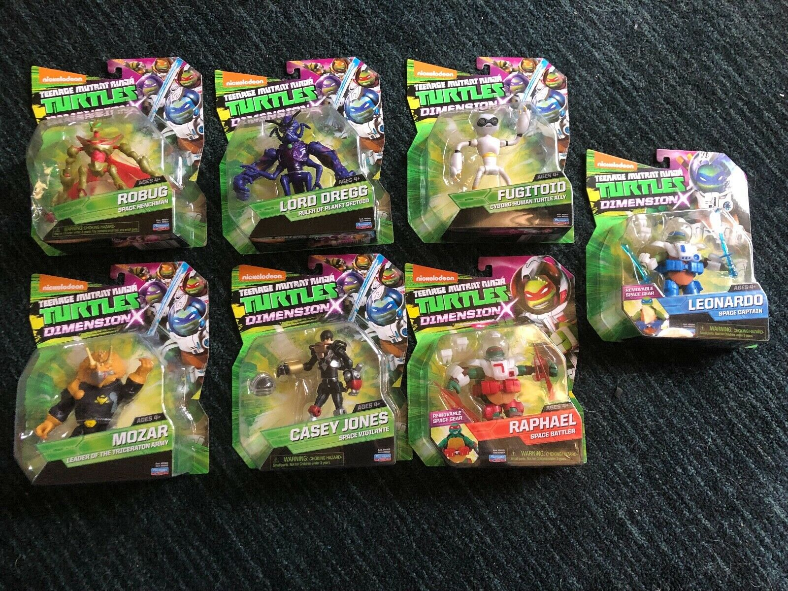 LOT OF 7 TEENAGE MUTANT NINJA TURTLES DIessiSION X cifraS RAPHAELLEOCASEY, nuovo