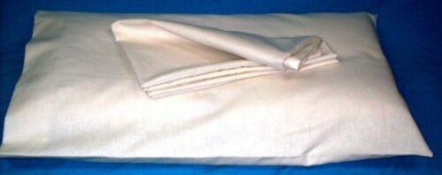 Hemp Organic Cotton Muslin Pillowcase Natural New USA Made Free Shipping White