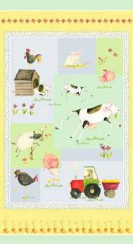 Henry Glass EIEIO by Debbie Taylor-Kerman 6149 P 44 PANEL Cotton Fabric