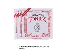 PIRASTRO-Tonica-Cordiera-per-Viola-4-4-4221-MUTA-DI-CORDE-IN-NYLON-con-PALLINO