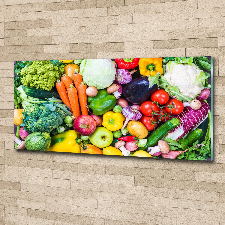 Acrylglas-Bild Wandbilder Druck 125x50 Deko Essen & Getränke Buntes Gemüse