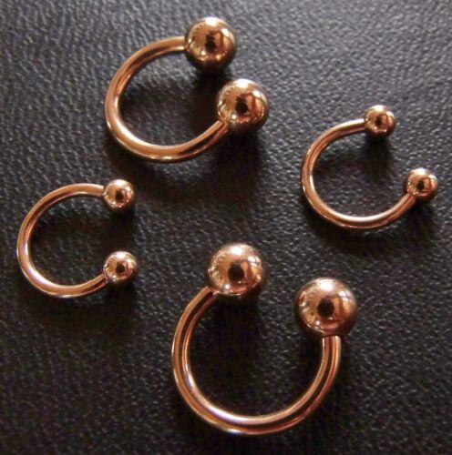 Hufeisen Piercing Ring Circular Barbell TITAN rose Gold STUDIO WARE 1,6mm  1,2mm