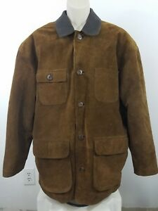 Old-navy-leather-work-coat-Size-Medium-1867