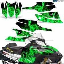 FireCat Arctic Cat Graphic Kit  F5,F6,F7 Sled Sabercat Snowmobile Wrap ICE GREN