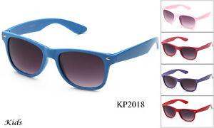 Kids-Sunglasses-Classic-Retro-Eyewear-Boys-Girls-Colorful-Cute-Lead-Free-UV-100