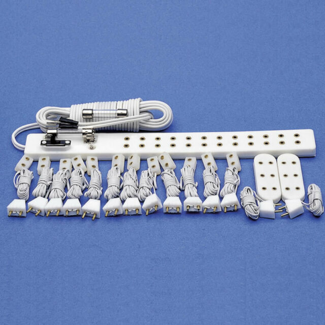 1:12 Scale Switched 12 Socket Fused Lighting Strip Tumdee Dolls House Accessory