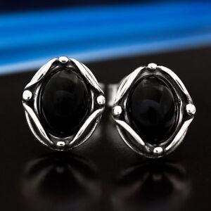 Onyx-Silber-925-Ohrringe-Damen-Schmuck-Sterlingsilber-S534