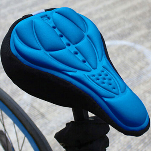 1-Bike Cycying 3D Gel Saddle Seat Cover Bicycle Silicone Soft Pad Padded Cushion