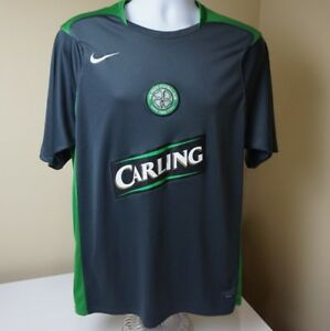 sale retailer b396b 3df48 Details about Celtic Soccer Jersey FC Football Club Scotland Nike Carling  shirt Large Dri Fit