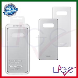 Cover per Samsung Galaxy Note 8 Custodia Clear Cover Originale Nero Trasparente