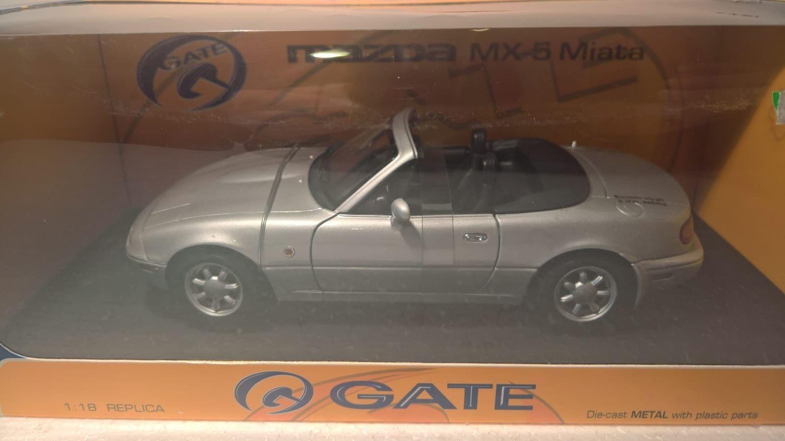 1 18 Gate Mazda MX-5 Miata Silber in OVP, erste Generation
