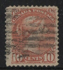 MOTON114-45-Small-Queen-10c-Canada-used-well-centered