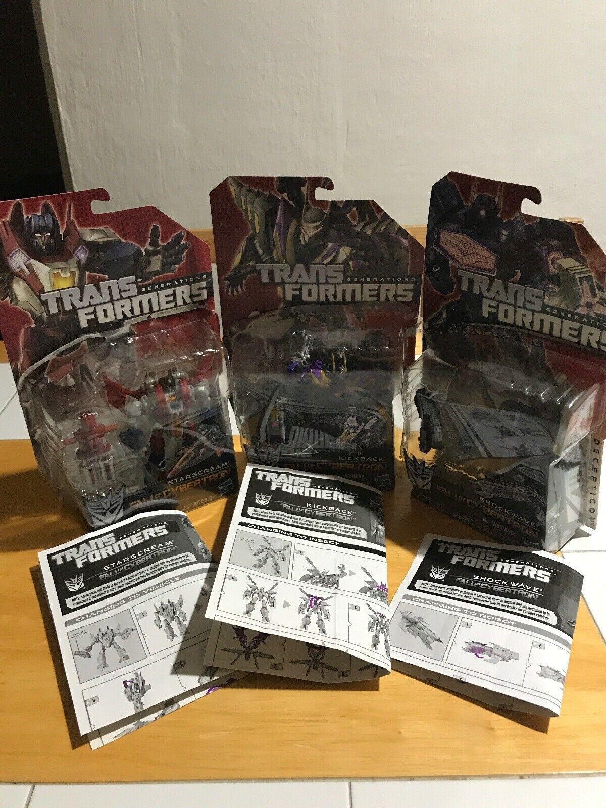 Hasbro Transformers Fall Of Cybertron Lot  Shockwave  Kickback  Starscream