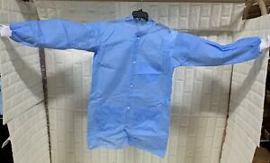 Lakeland Protective Clothing Suit Lab Coat PPE Blue LabCoat 10pcs with 3 Pockets