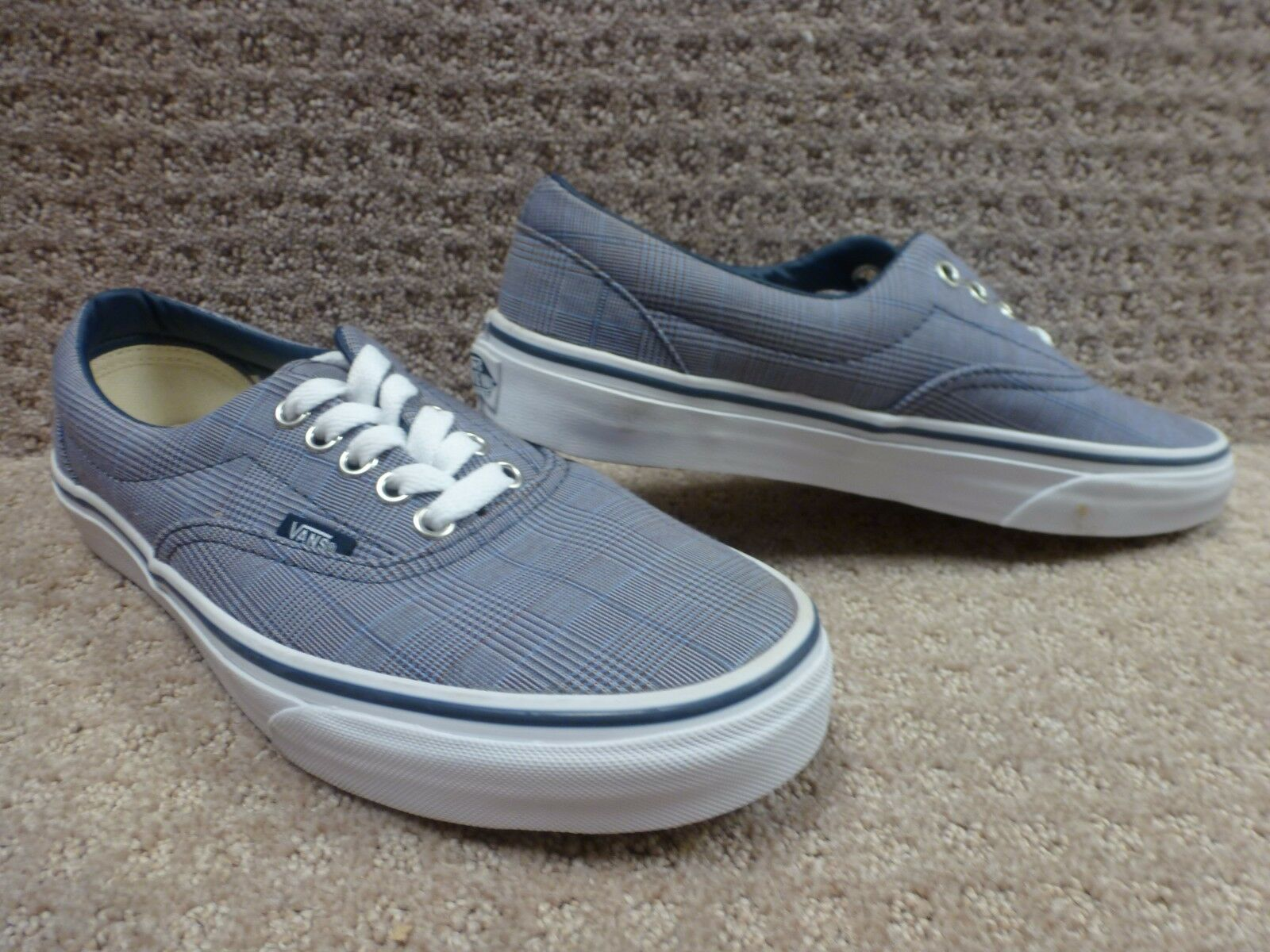 Vans Men's shoes Era -- (ScillaPlaid)DrssBl TrWht , Size 7