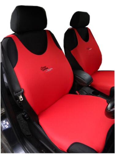 2 RED FRONT VEST CAR SEAT COVERS PROTECTORS FOR CITROEN C1