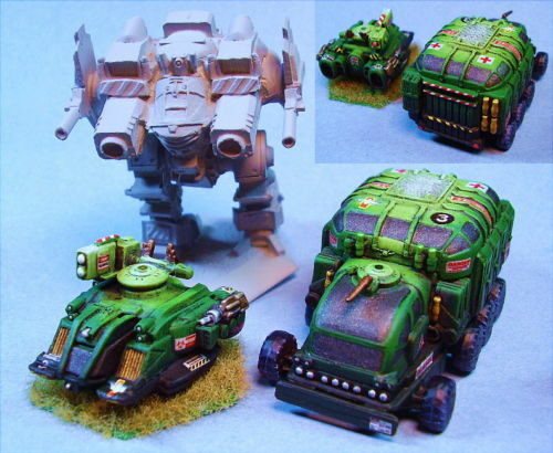 Battletech painted Scimitar & MIT23 Mash Vehicle OH