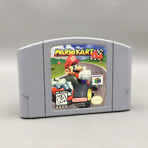 Mario Kart 64 Nintendo 64 N64 Game - Cleaned Tested Working - Authentic