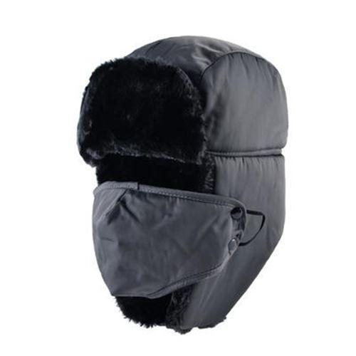 Men Women Winter Bomber Hats Cap Outdoor Thick Warm Fur Russian Hat with Ear Fla