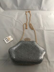 Koko-Silver-gold-Clutch-Bag-With-Chain-Strap-RRP-29-99