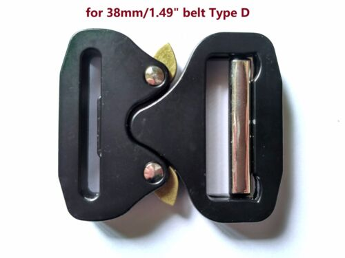Details about  /New Metal Belt Buckle Tactical Nylon Rescue Rigger Quick Release 28//38//45MM//50MM