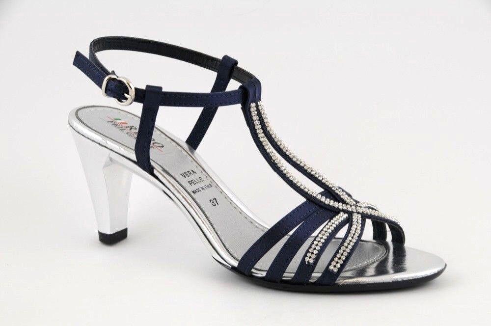 Sandalo tacco elegante da sera strass tacco Sandalo medio medio Sandalo Phil   5e7837