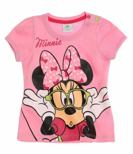 Kinder T-Shirt Sommershirt Kurzarm Mädchen Disney Minnie Gr 62 68  92