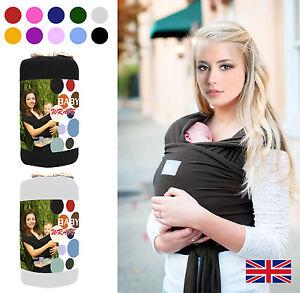 0df7724114a9 BABY SLING STRETCHY WRAP CARRIER PREMIUM BREASTFEEDING BIRTH TO 3YRS ...