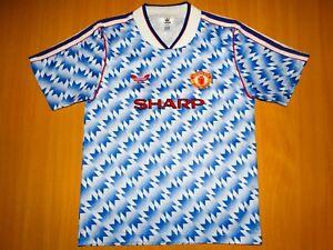 MANCHESTER UNITED 1990 1992 ADIDAS FOOTBALL SHIRT JERSEY AWAY SHARP 30 32 Boys