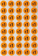 Garage Sale Round Label Neon Orange Dots 19 Mm 1040 Pack Preprinted Sticker
