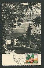 WALLIS ET FUTUNA MK 1958 FLORA MAXIMUMKARTE CARTE MAXIMUM CARD MC CM d2966