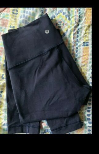 Lululemon Wunder Under Leggings Navy Blue Size 8