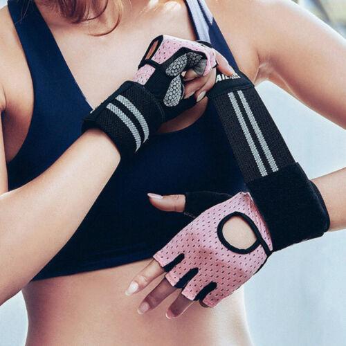 Women Men Gloves Weight Lifting Gym Sport Exercise Training Half Finger
