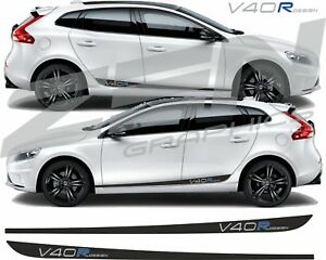 Volvo-V40-R-Design-side-Stripes-decals-stickers-Quality-fit-any-colour-HEXIS