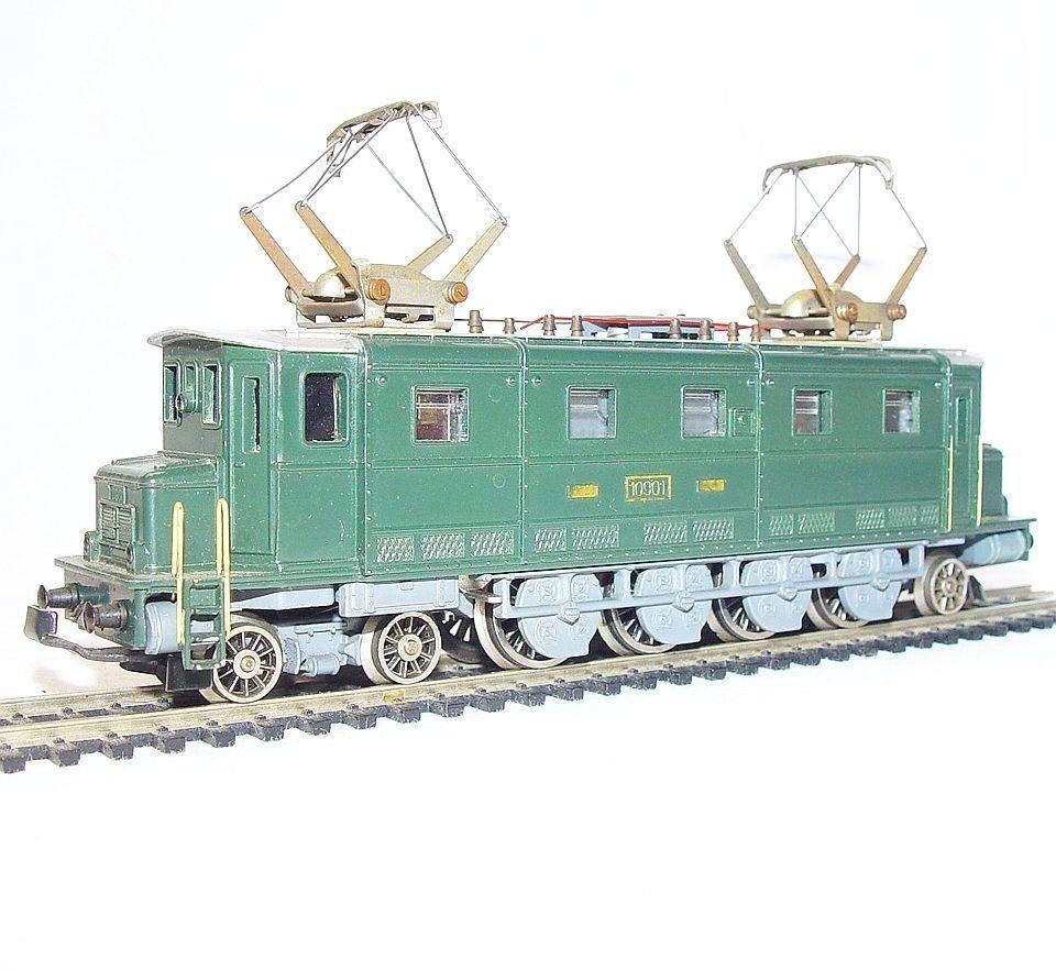 Arpía Suiza DC Ho suizo SBB sistema de financiación compensatoria AE 47 10 Locomotora Metal Fundido casi como nuevo`65