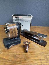 Lot Of 3 Vtg Boston Crank Pencil Sharpener Swingline Stapler Ace Staple Remover